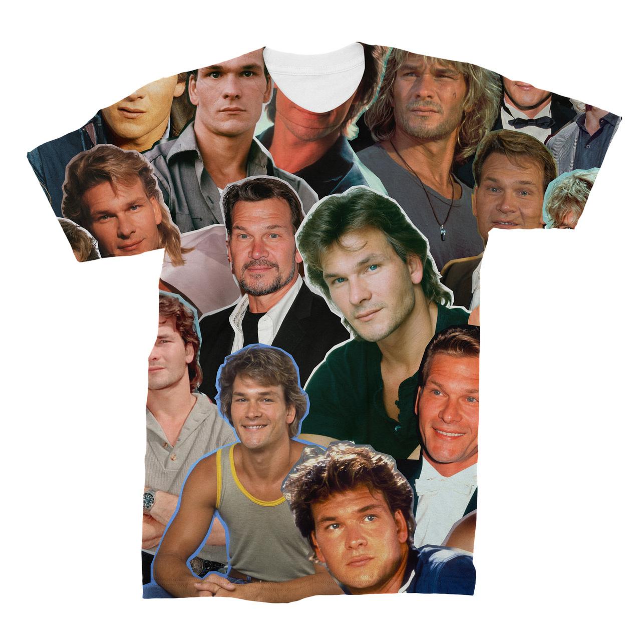 75287075f7d67 Patrick Swayze Photo Collage T-Shirt - Subliworks