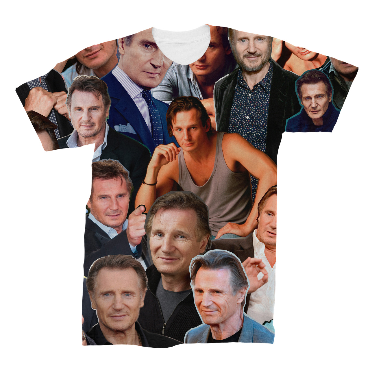 d0268c152f0eee Liam Neeson Photo Collage T-Shirt - Subliworks