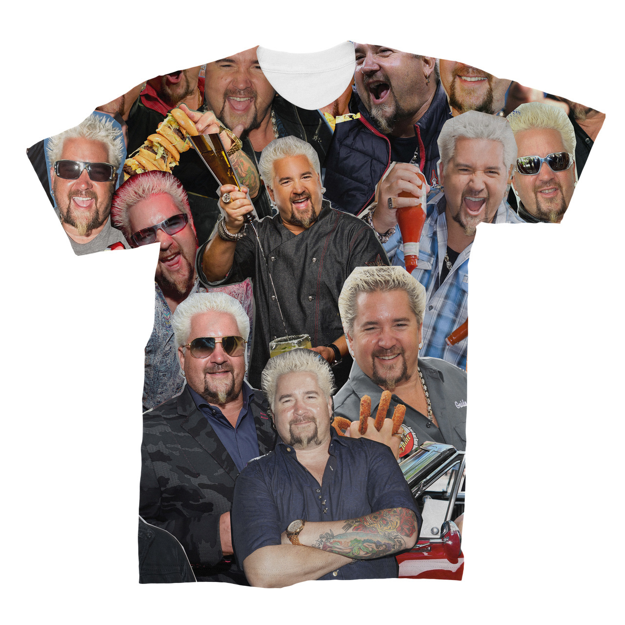 3f302880b88e45 Guy Fieri Photo Collage T-Shirt - Subliworks