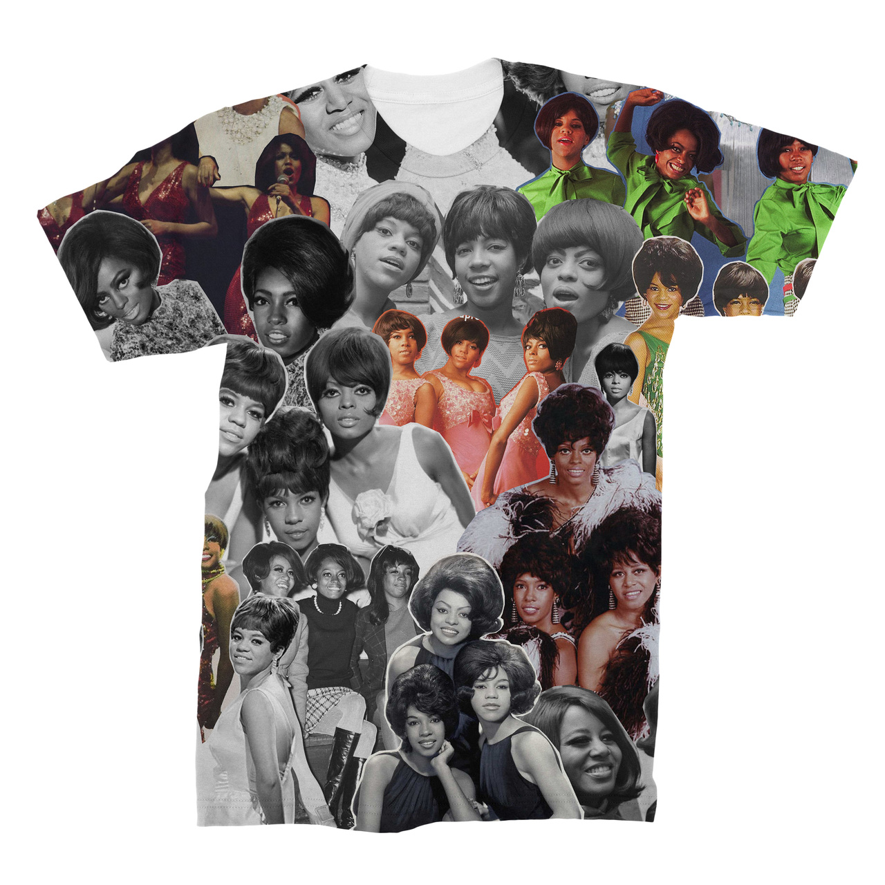 c5cdd33ac54e The Supremes Photo Collage T-Shirt - Subliworks