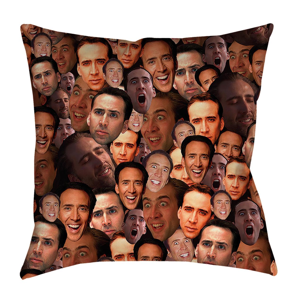 d75e2f294a95ed Nicolas Cage Photo Collage Pillowcase - Subliworks