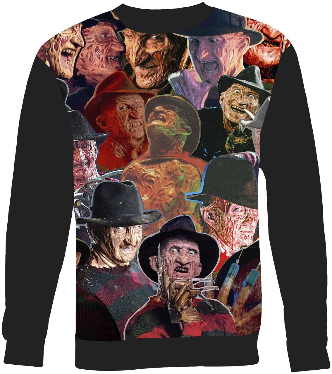 Freddy Krueger Collage Sweater Sweatshirt Subliworks