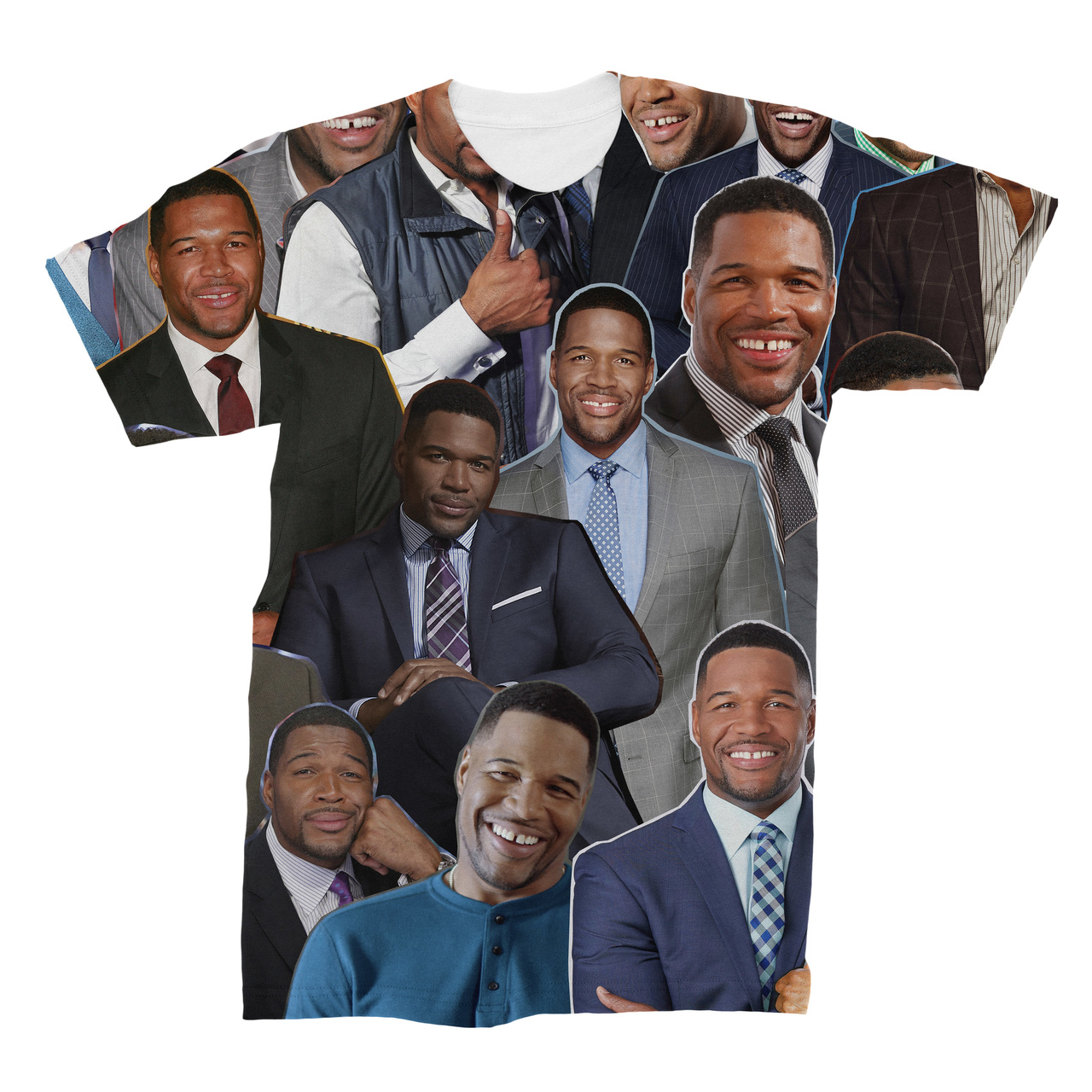Michael Strahan Photo Collage T Shirt Subliworks