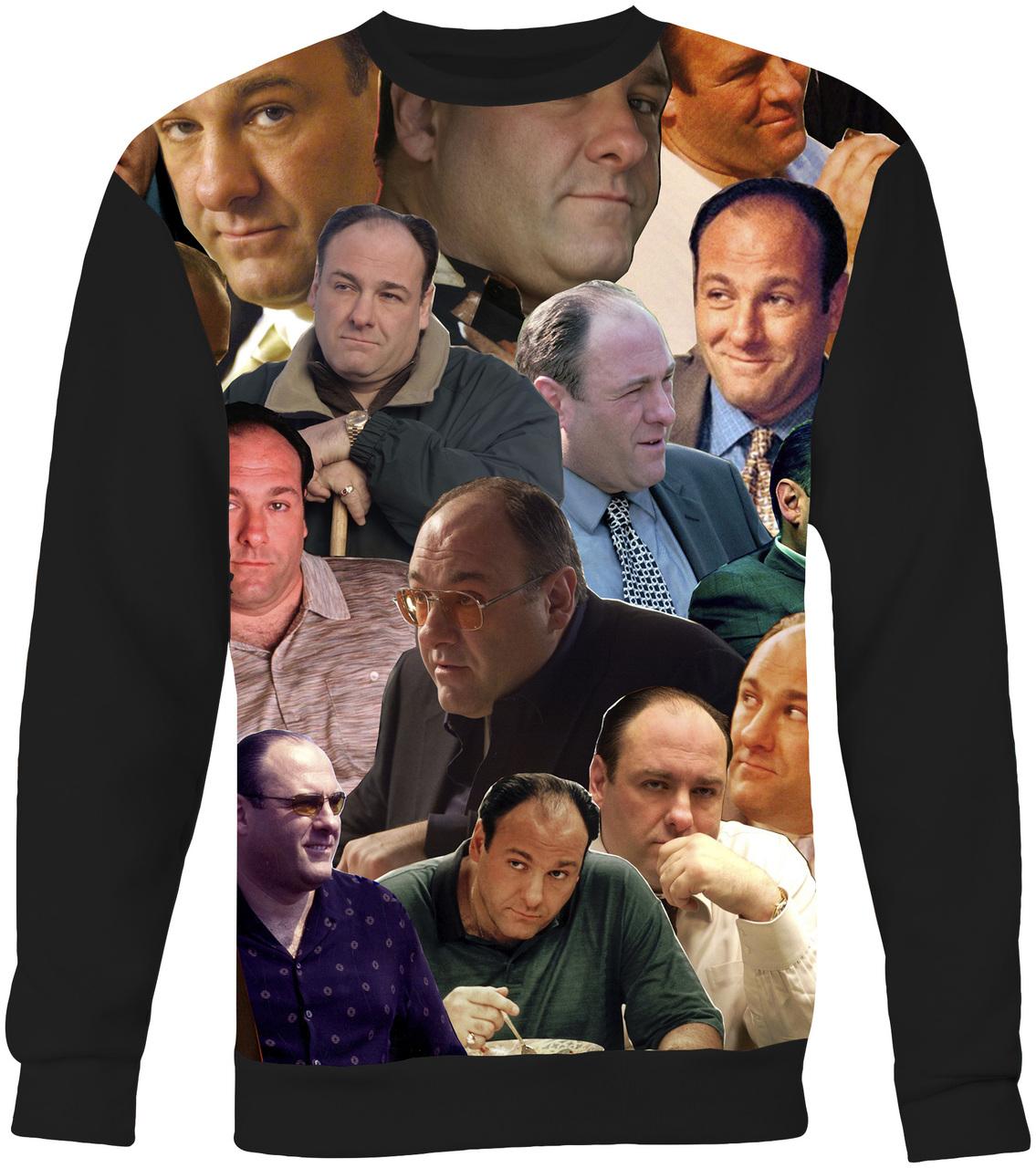 Tony Soprano The Sopranos Collage Sweater Sweatshirt Subliworks