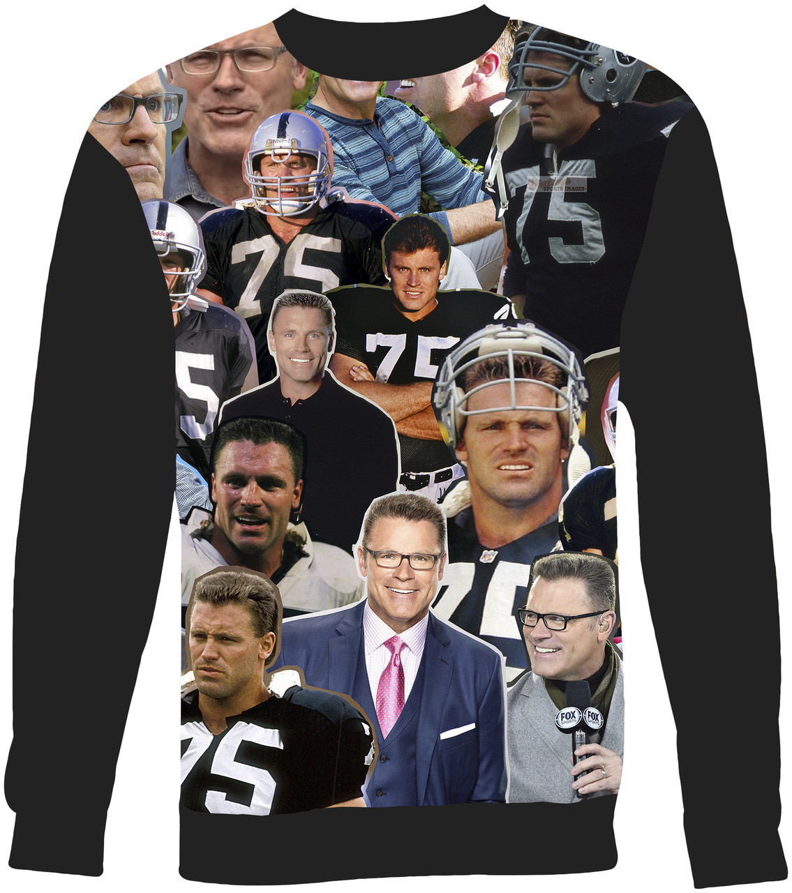 Howie Long Collage Sweater Sweatshirt - Subliworks b42ecd026