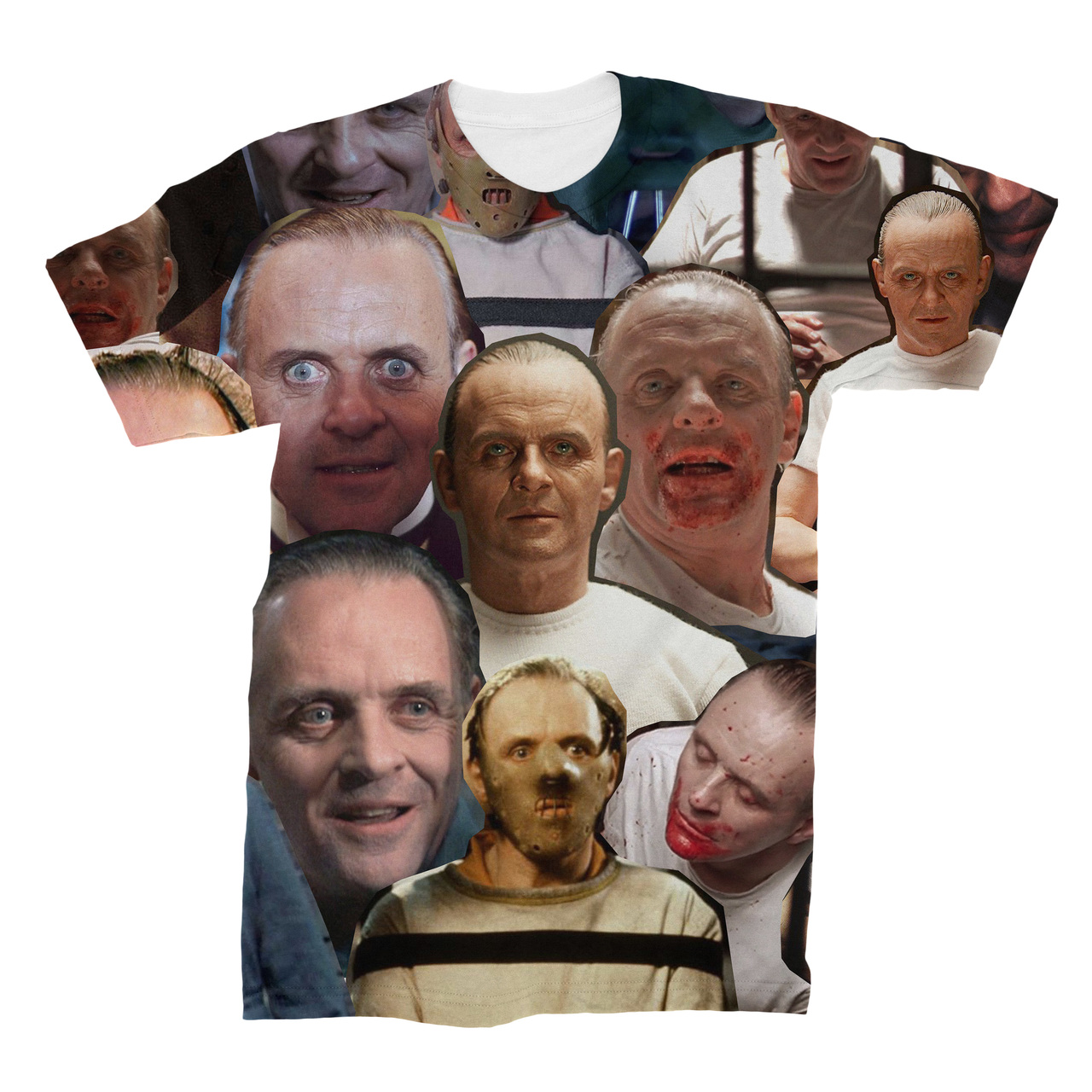 012b934e34ecf7 Hannibal Lecter Photo Collage T-Shirt - Subliworks