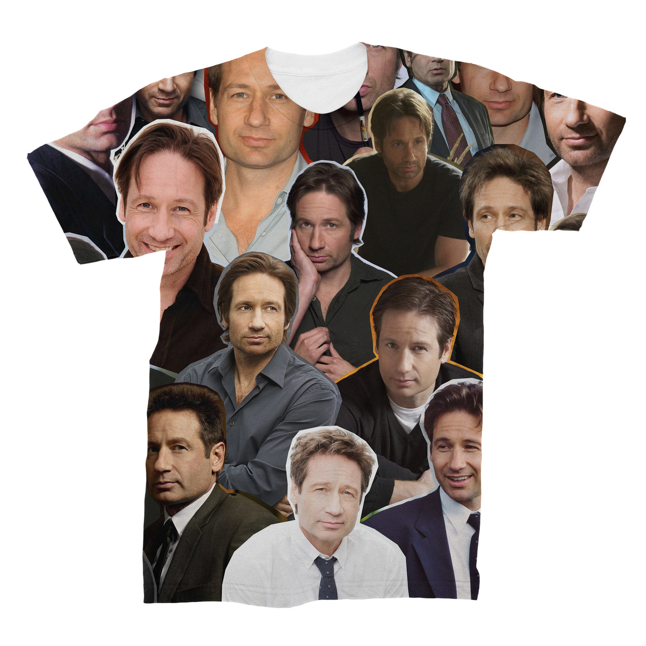 bcd3d33a152d98 David Duchovny Photo Collage T-Shirt - Subliworks