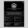 HUD Fair Housing  PVC Sign