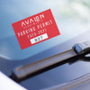 """Parking Decals 3"""" X 2"""" Inside Window Mount- One Color"""