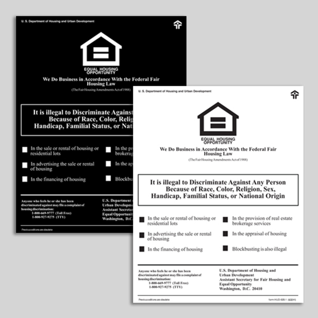 HUD Fair Housing  PVC Sign
