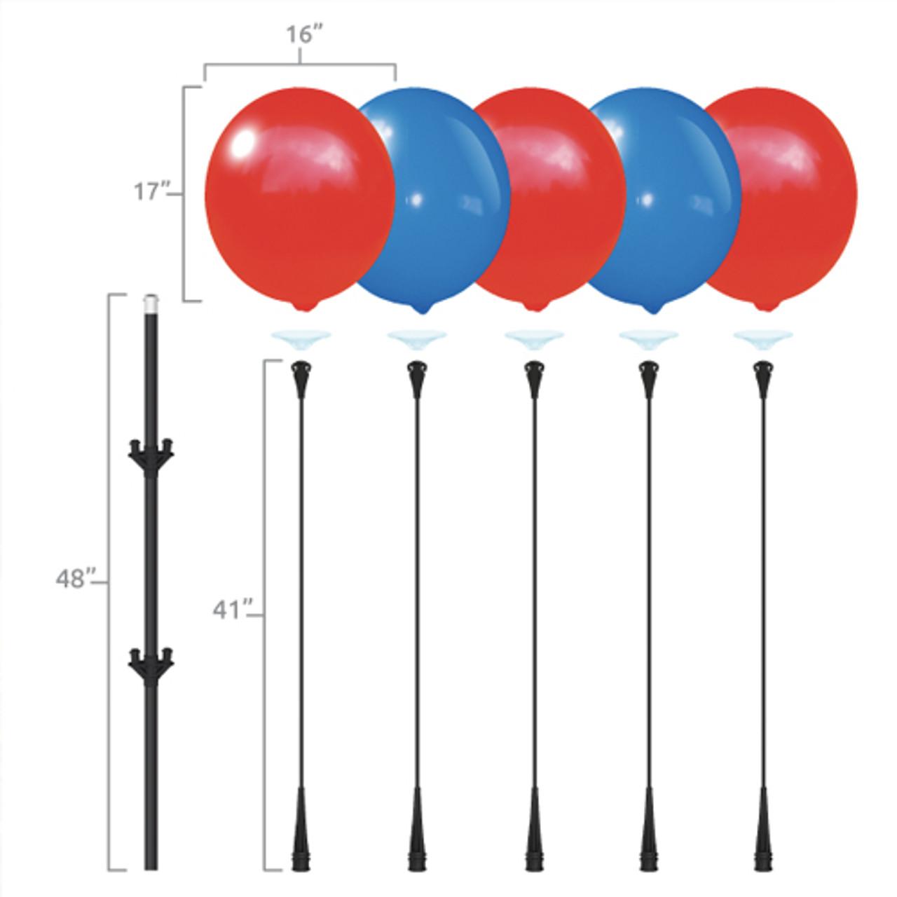 5 Reusable Balloon Cluster