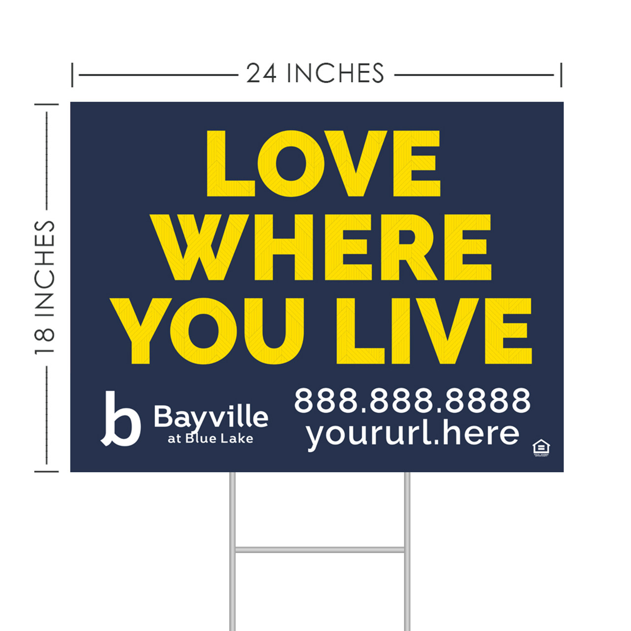 """24"""" x 18"""" Classic I Bandit Signs (Pack Of 10)"""
