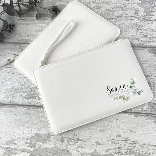 Bridesmaid bridal clutch bag purse wedding gift