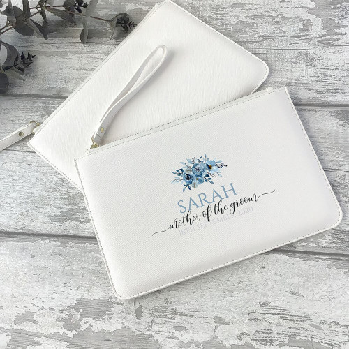 Personalised Mother of the Groom wedding purse, clutch bag gift