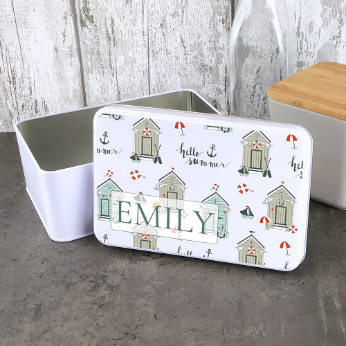 'Hello summer' storage tin, personalised  gift