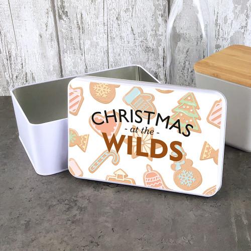 Christmas cookie design storage tin, Christmas gift idea.