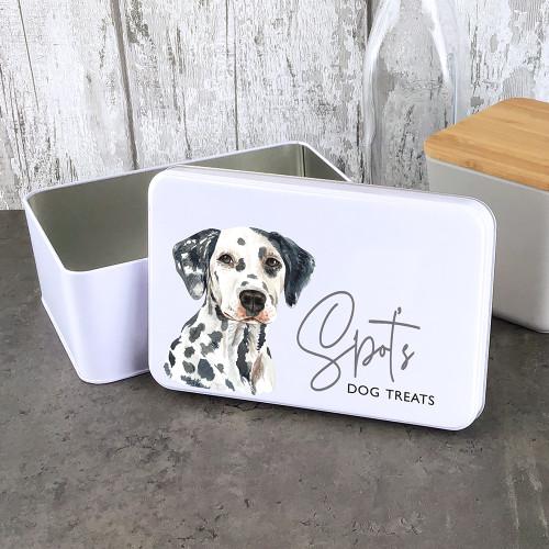 Dalmatian storage tin for treats, gift idea