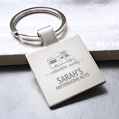 Personalised motorhome keys, engraved keyring gift idea