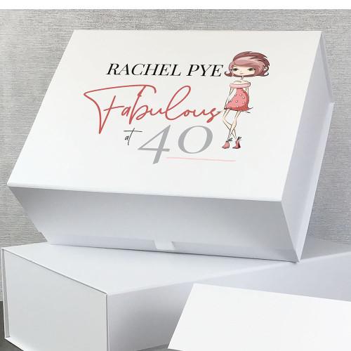 Fabulous at 40, personalised gift box