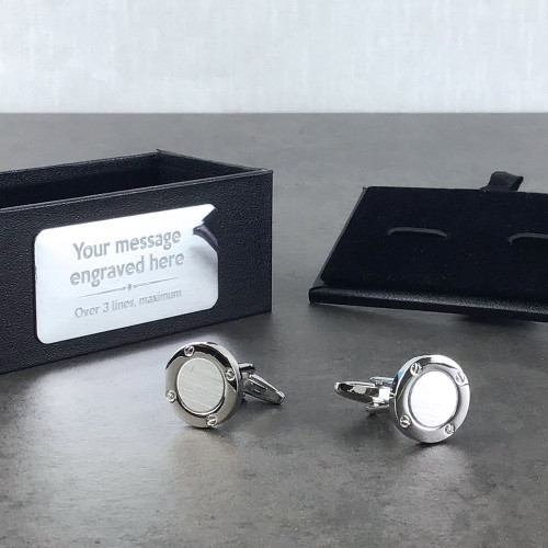 Nautical ship's port hole themed cufflinks gift for a sailor, boat person or cruise holiday