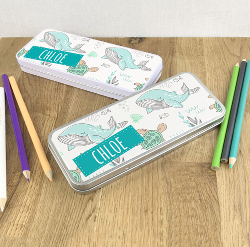 Sea life design pencil tin gift for children