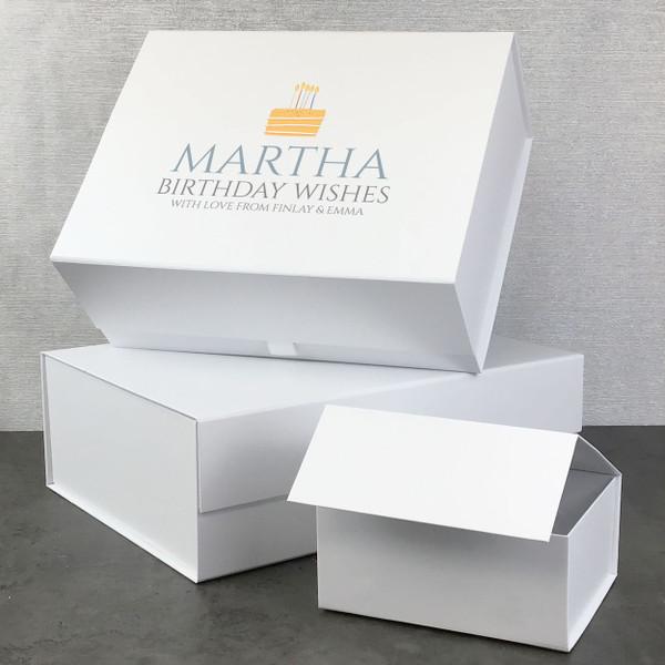 Personalised birthday cake gift box