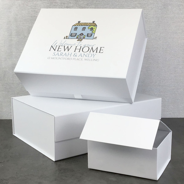 Welcome to your new home, personalised gift box