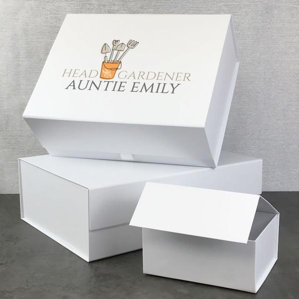 Head Gardener, personalised gift box