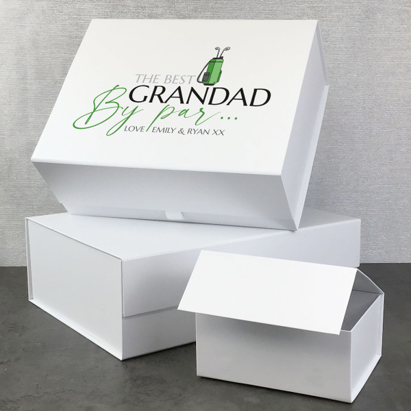 Personalised golf Fathers Day gift box
