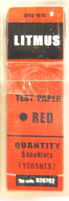 Litmus Paper Strips, 100 Red