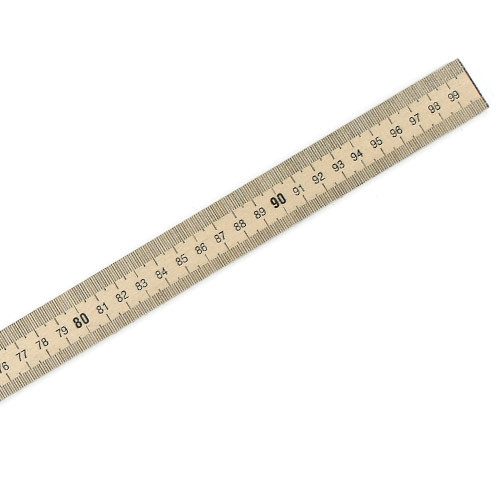 Dual Scale Wooden Meter Stick
