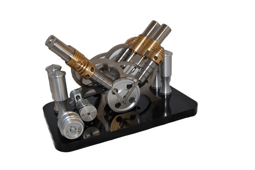 Quad Cylinder Stirling Engine Model