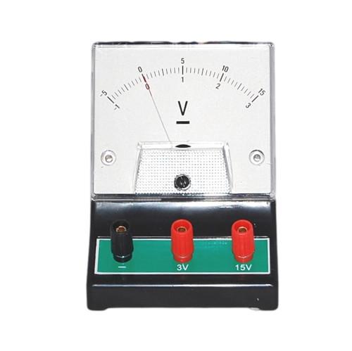 Analog DC Voltmeter, 0-3 / 0-15V DC