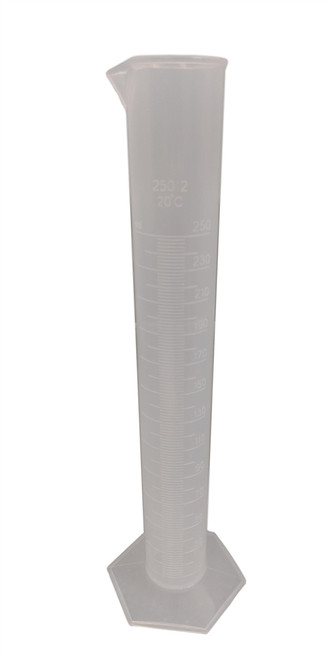 Graduated Cylinder, Polypropylene, 250ml