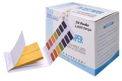 Bulk pH test paper strips