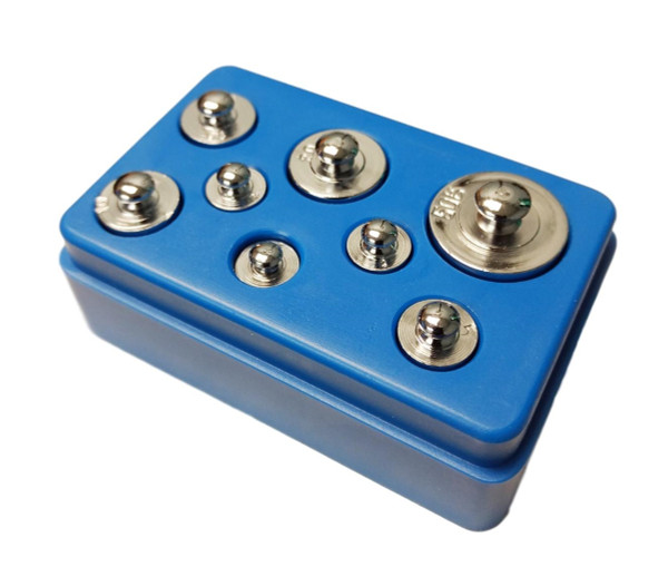8 Piece Precision Weight Set with Case 1g - 50g
