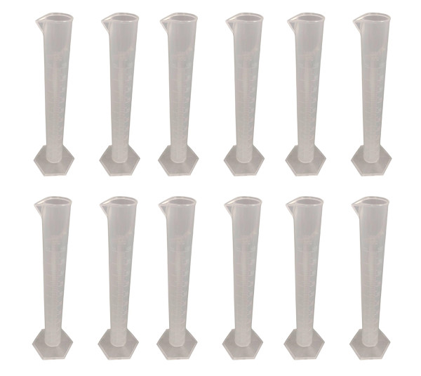 Bulk Graduated Cylinders, Polypropylene Plastic, 100ml, Pack of 12