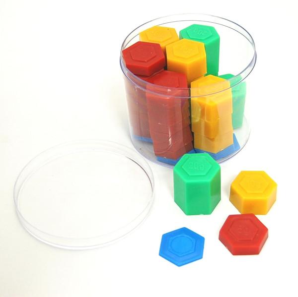 54 Piece Stackable Plastic Weight Set, Metric