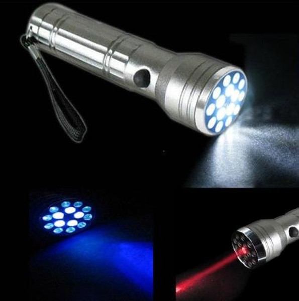Combination LED Flashlight, UV & Laser Pointer
