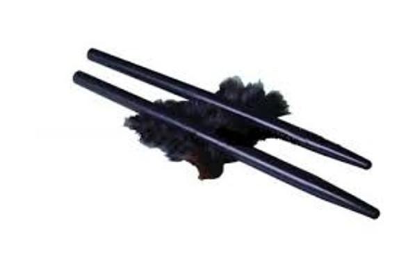 Ebonite Friction Rod Pair with Fur