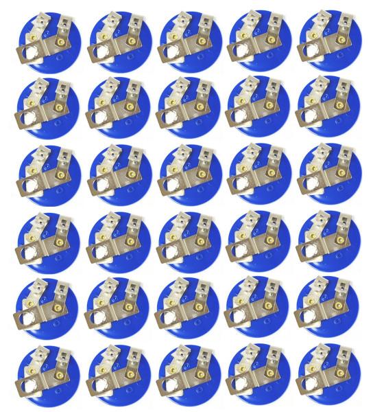 Bulk Bulb Holders, E10 Bulb Sockets, Plastic, Pack of 30