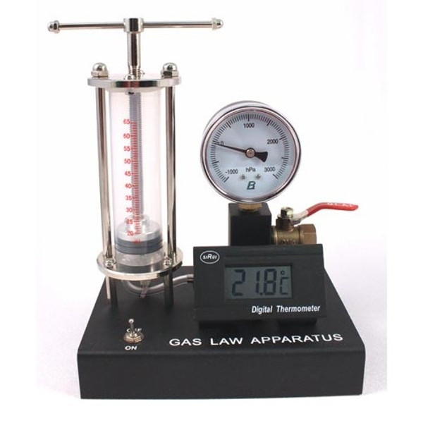 Advanced Gas Law Demo with Digital Temperature Display