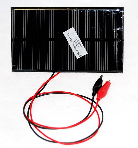 Solar Panel, 12 Volt, 1.5W w/ Leads & Blocking Diode