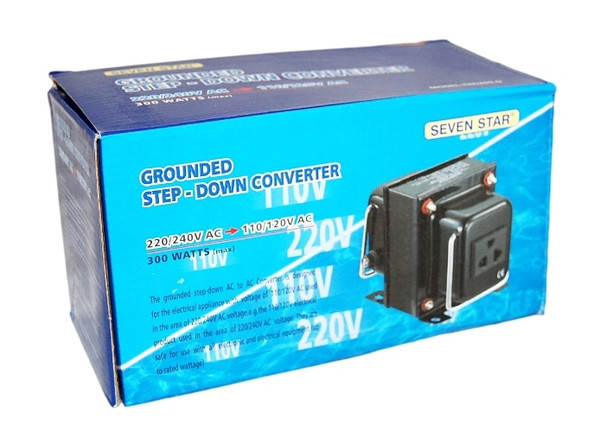 300 Watt Step Down Converter, 220 to 110 VAC