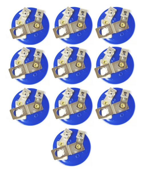 Bulb Holders, E10 Bulb Sockets, Plastic, Pack of 10