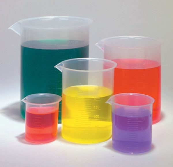Polypropylene Plastic Beakers, Set of 5