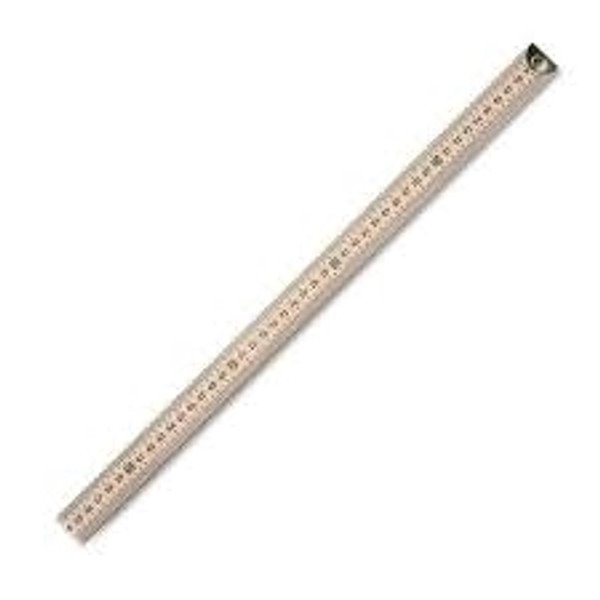 Wooden Meter Stick Dual Scale Metal Ends