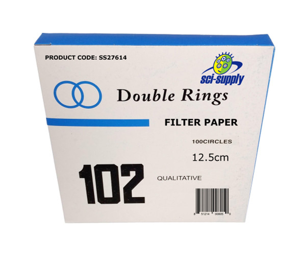 Qualitative Grade Filter Paper, Medium Speed, 10 Micron Pore Size (Retention)