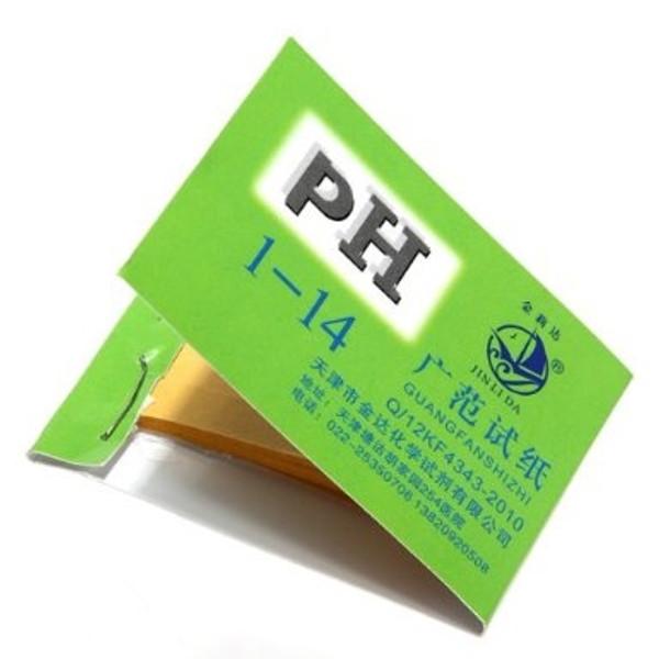 PH Test Paper, Range 1-14, Package of 80