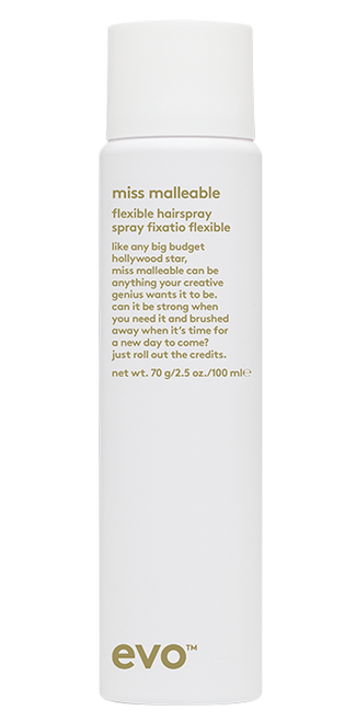 Evo Miss Malleable Flexible Hairspray TRAVEL 100ml
